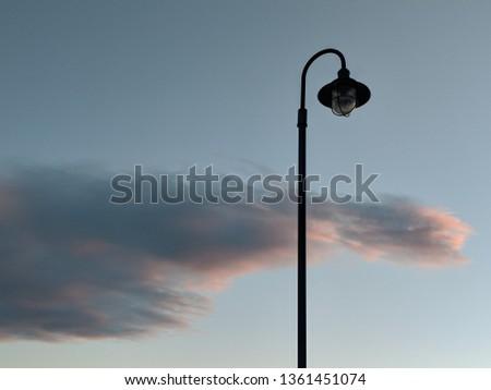 Closed Lamp at Sunset #1361451074