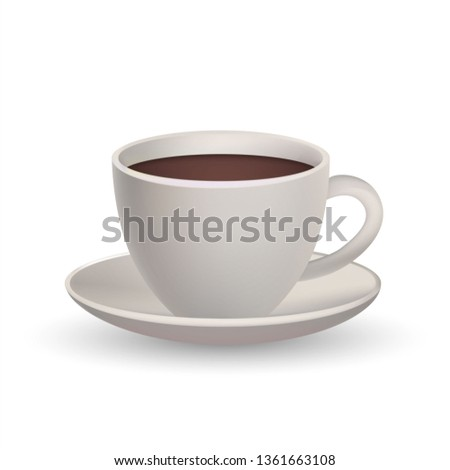 Realistic 3D Coffee Cup. Cafe Symbol. Sign. #1361663108