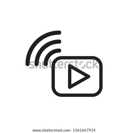 video streaming icon Royalty-Free Stock Photo #1361667914