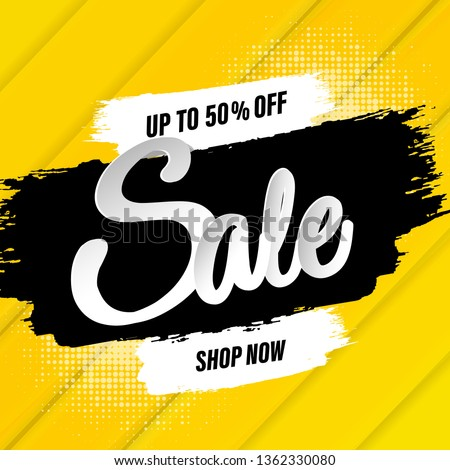 Sale Banner With Blots, Vector Illustration #1362330080