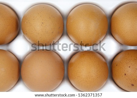 Easter eggs on a white background #1362371357