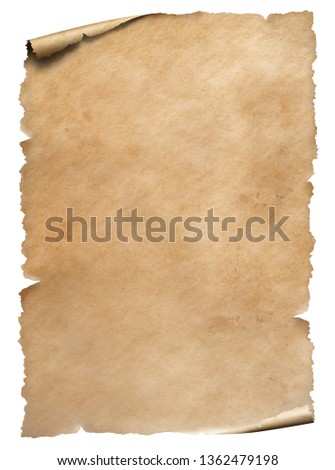 Old worn paper sheet isolated on white #1362479198