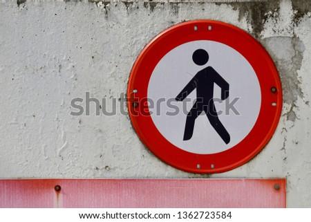 pedestrian traffic signal in the street #1362723584