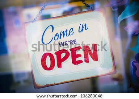Business opening with open sign #136283048