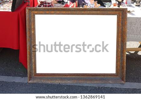 Old Gold Picture Frame at Flea Market
