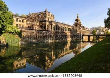 Dresden, Germany - September 17, 2018 - Dresden Zwinger, at the crown gate #1362908948