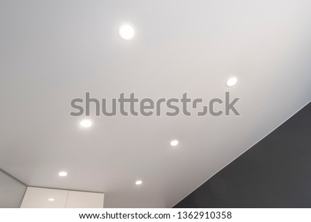 recessed ceiling  LED light Royalty-Free Stock Photo #1362910358