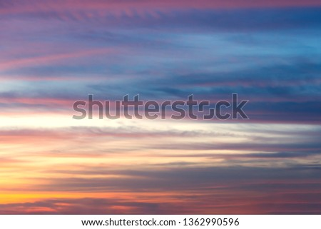 After the sun is below the horizon at tropical island the sky showing stunning twilight.Colorful sky at sunset. #1362990596