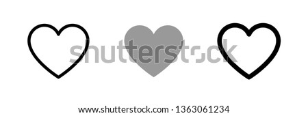Heart vector collection. Love symbol icon set. #1363061234