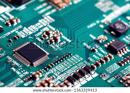 Electronic circuit board close up. #1363329413