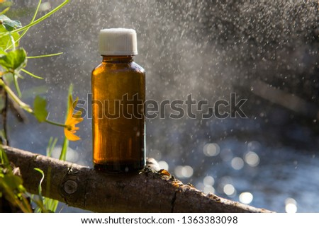 NATUROPATHY - natural remedies, medicine. Organic bio alternative medicine, bottle.  #1363383098