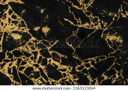 Black marble texture with gold pattern background design for cover book or brochure, poster or realistic business and design artwork. #1363523864