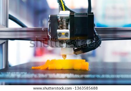 Printing 3D printer Object Royalty-Free Stock Photo #1363585688