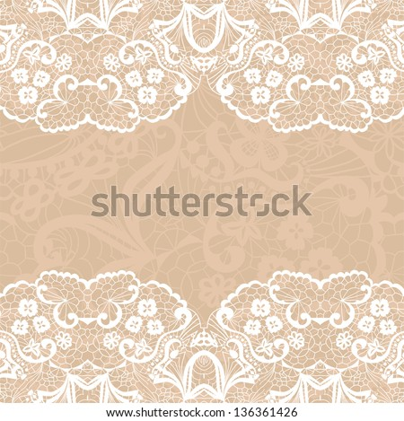 Horizontal seamless background with a floral ornament