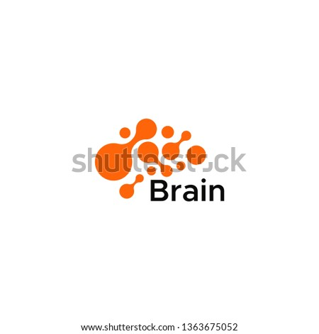 Brain Logo silhouette design vector template. Think idea concept.Brain storm power thinking brain Logotype icon. modern graphic logo #1363675052