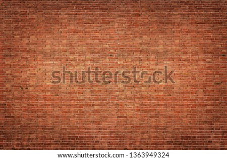 Background of old vintage brick wall #1363949324