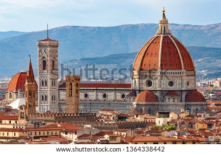 FLORENCE in Italy with the great dome of the Cathedral called Duomo di Firenze #1364338442
