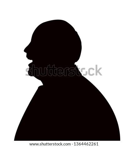 a man head silhouette vector #1364462261