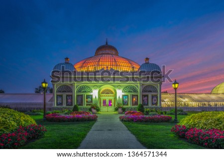 Buffalo and Erie County Botanical Gardens. The Buffalo and Erie County Botanical Gardens are botanical gardens located within South Park in Buffalo, New York, United States.  #1364571344