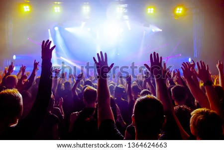 audience at rock concert #1364624663