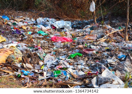Plastic Waste and Other waste of the Village Puliyampatti, Pollachi, Coimbatore, Tamilnadu, India in 9th April 2019 #1364734142