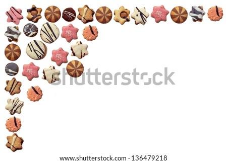 cookies as motive of food frame #136479218
