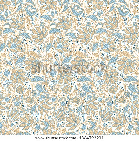 Seamless traditional indian textile floral pattern #1364792291