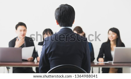 People of having an interview. Job hunting concept. #1364988041