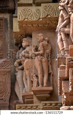 Carvings on Temple walls at Khajuraho AD 930-950 #136511729