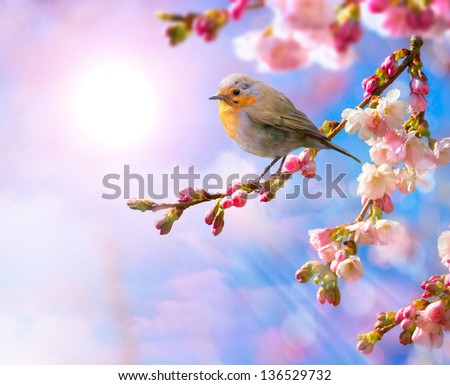 abstract Spring beautiful landscape background