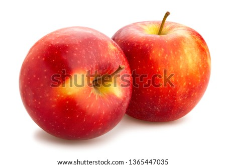 red apples path isolated #1365447035