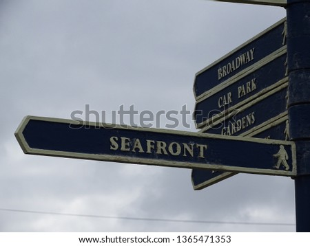 Signpost at the seaside #1365471353