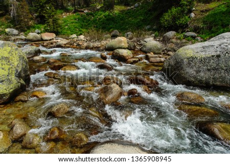 Marble Fork Kaweah River in Sequoia National Park in California, United States #1365908945