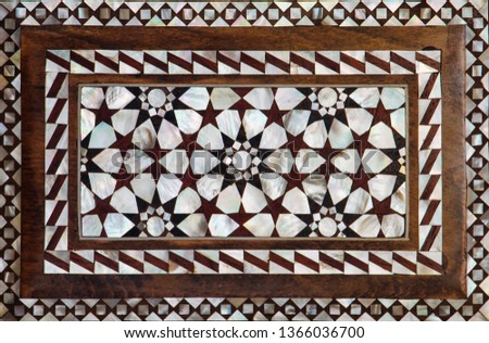 Ottoman art example of Mother of Pearl inlays from Istanbul #1366036700