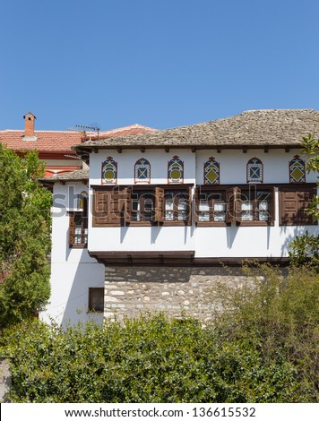 Typical traditional architecture of Pelion mount region, Thessaly, Greece #136615532