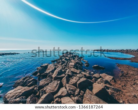 This is the coast of the Gulf of Finland,All the beauty of St. Petersburg #1366187264
