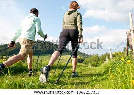 Nordic Walking - workout in springtime #1366259357