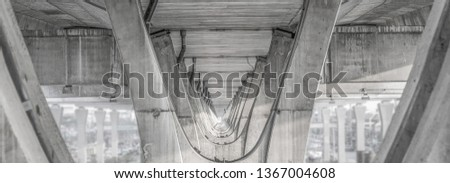 under tollway structure pattern  background                           Royalty-Free Stock Photo #1367004608