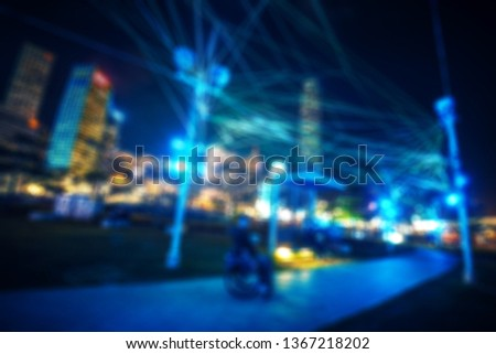 Abstract city in bokeh for background #1367218202