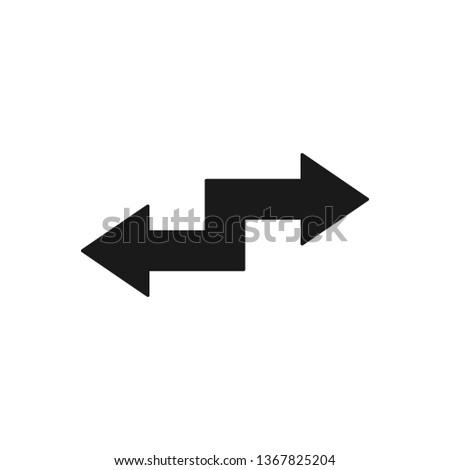 Arrow transfer icon. Money transfer icon. File transfer illustration. Creative design for website, app and UI concept