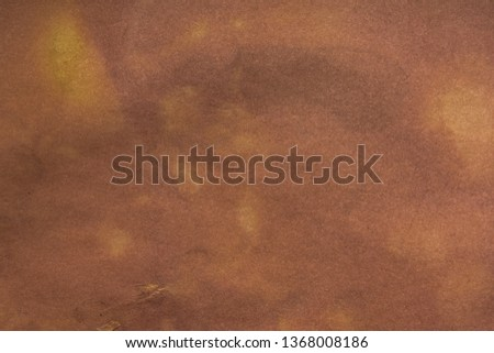 Aged paper sheet. Blank old background with dust and dirty stains. Vintage and antique art concept. Poster mockup. Detailed closeup studio shot. Front view. Toned #1368008186