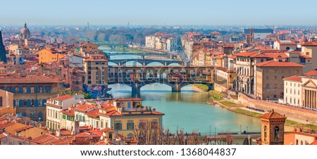 Ponte Vecchio over Arno river in Florence, Italy #1368044837