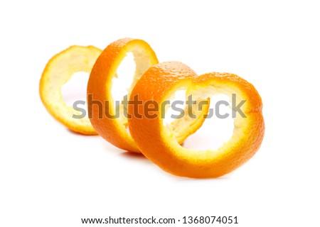 Orange peel isolated on white background #1368074051