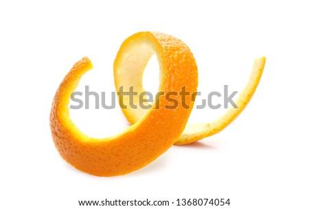 Orange peel isolated on white background #1368074054