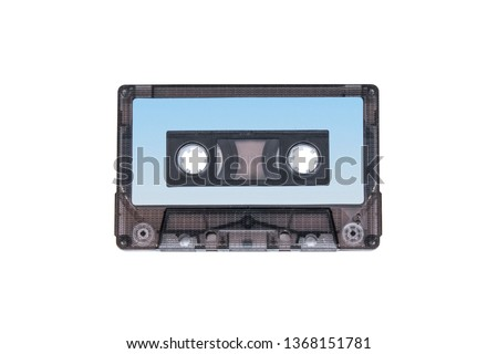 isolated 90s music tape casette mockup white background