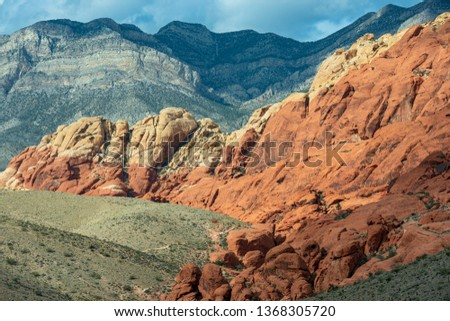 The Calico Hills in Red Rock Canyon National Conservation Area, Nevada, USA