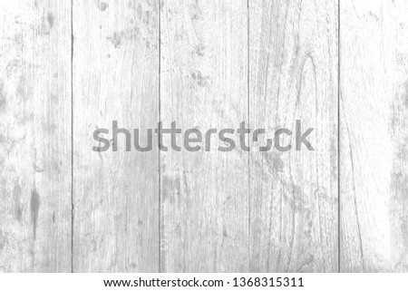 Texture of white wood plank can be use for background. The white wood background is on top view of natural wooden from the forest show texture of original wooden. #1368315311