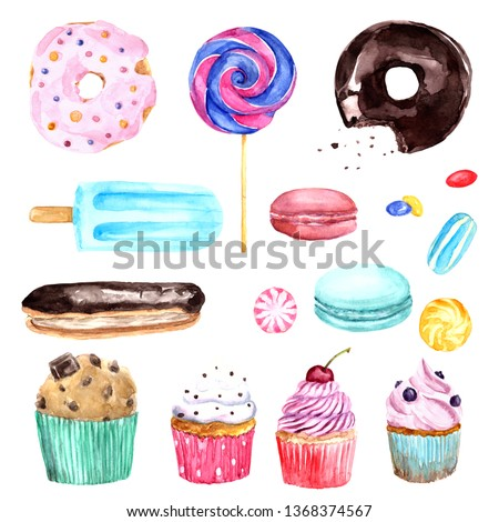 Watercolor Sweets Illustration