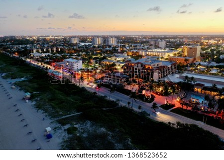 Delray Beach at night, South Florida #1368523652