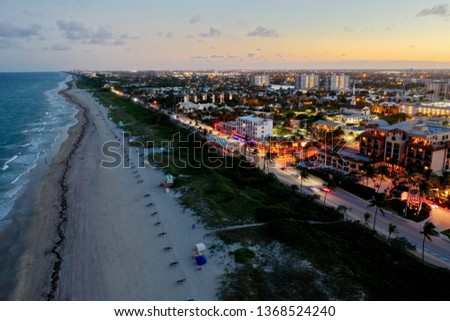 Delray Beach Florida, Beach strip at night #1368524240